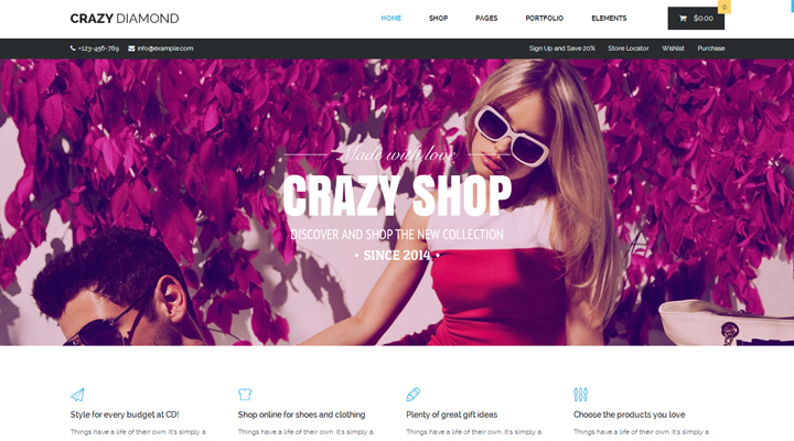 Crazy Diamond - Ecommerce & Corporate Theme