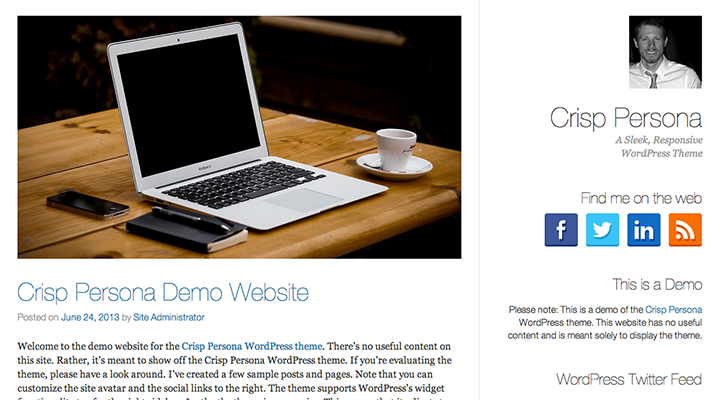 Crisp Persona - Responsive Wordpress Theme