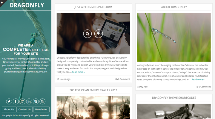 Dragonfly - Multi-Purpose Theme For Ghost