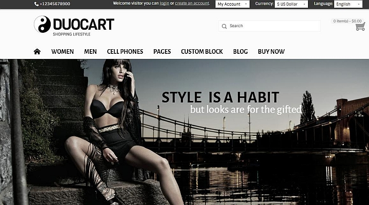 Duocart-Responsive Opencart Fashion Store theme