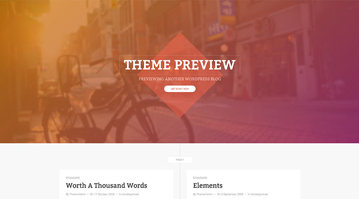 DW Timeline - Free WordPress Theme