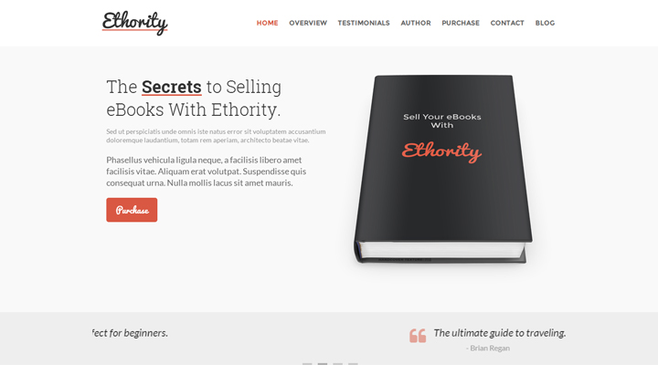 Ethority - One Page eBook Landing