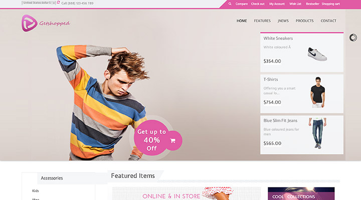 Getshopped - Multipurpose Joomla Template
