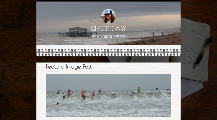 Ghost Diary Ultra Responsive Theme