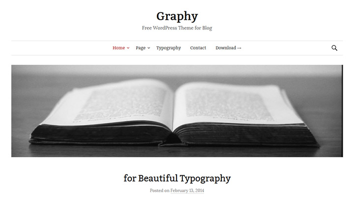 Graphy - Free WordPress Theme