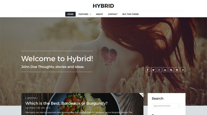 HYBRID - A Modern Grid Theme For Ghost