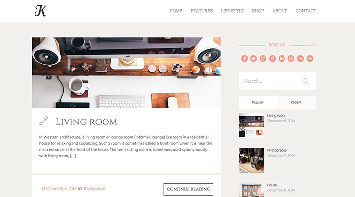 K-Theme - A Responsive WordPress Blog Theme