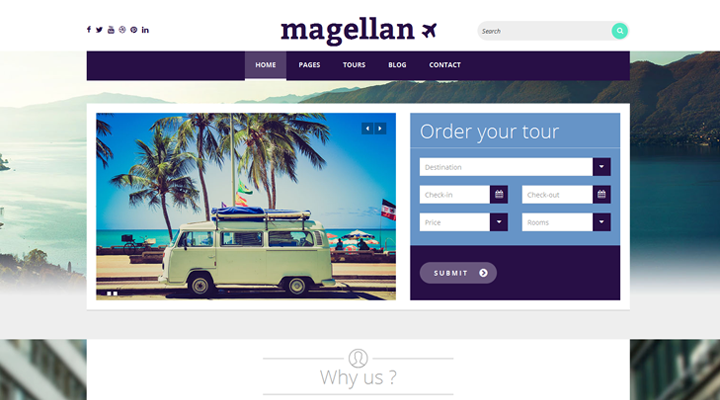 Magellan � Travel WordPress Theme