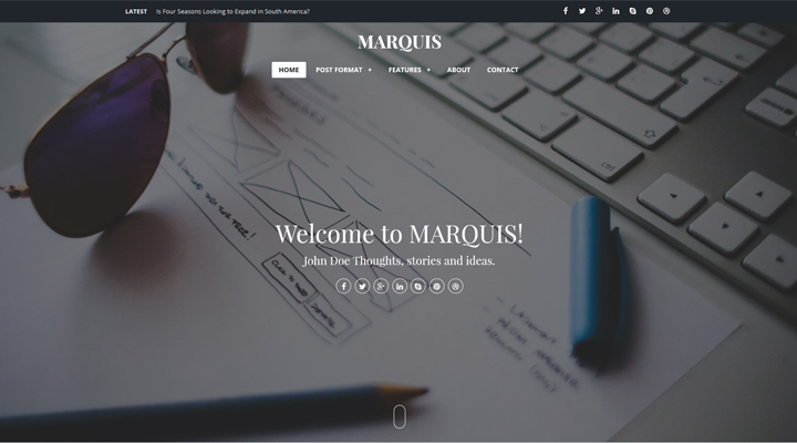 MARQUIS - Stylish & Content-Focused Ghost Theme