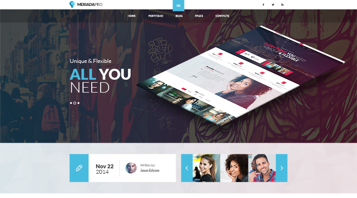 Meriada Pro - Corporate WordPress Theme