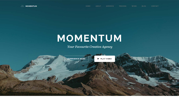 Momentum - Simple Creative One Page Theme