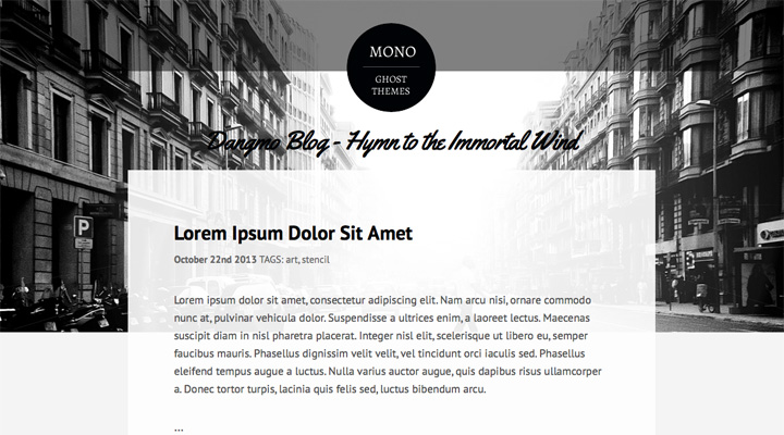 Mono Responsive Ghost Themes