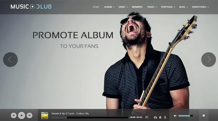Music Club - Music/Band/Club/Party Wordpress Theme by Daniele ...