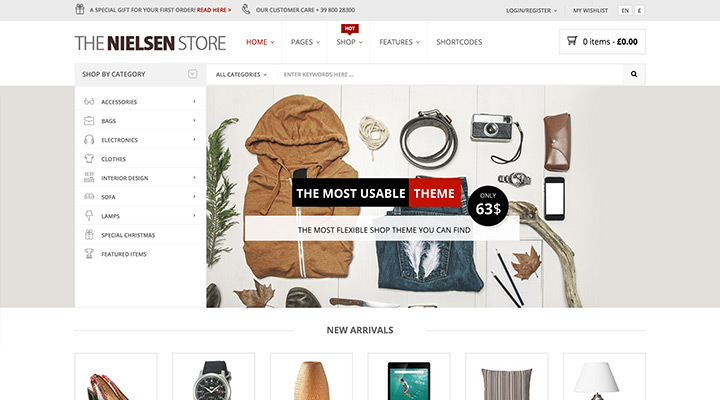Nielsen - The ultimate e-commerce theme