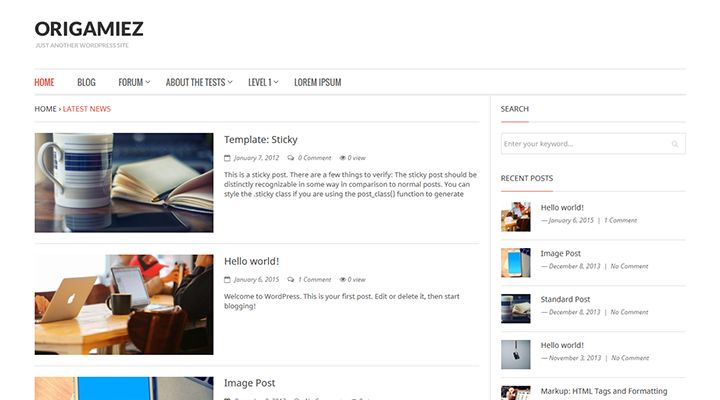 Origamiez - Clean and Clear Blog Theme