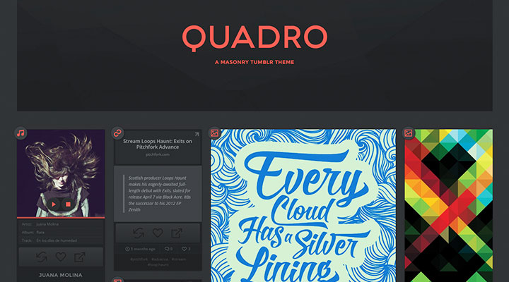 Quadro - A Masonry Theme for Tumblr