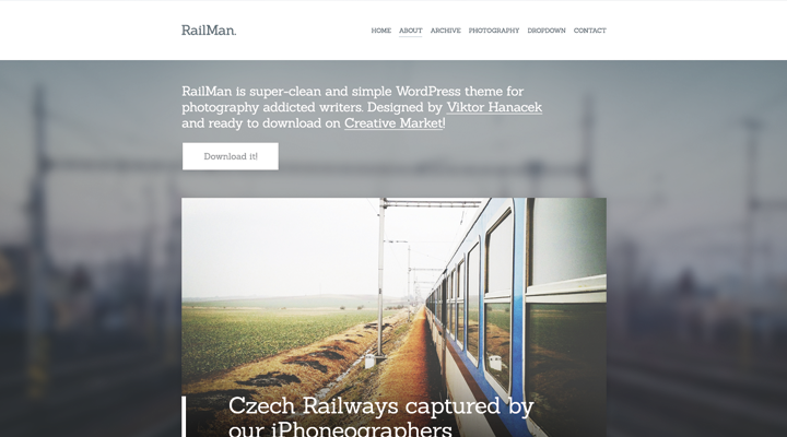 RailMan — WordPress Blogging Photography Theme