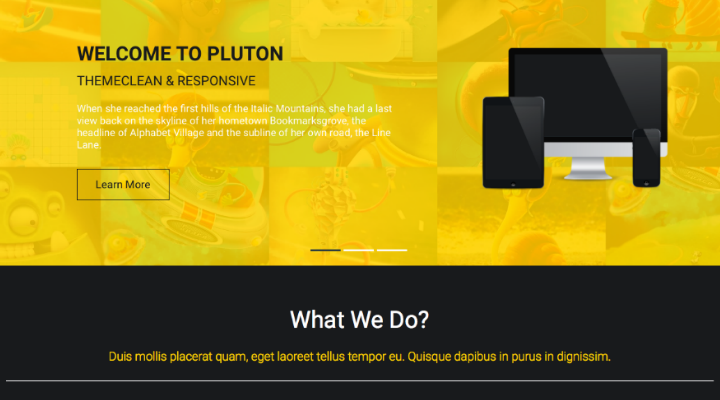 TA Pluton - Free One Page Parallax WordPress Theme
