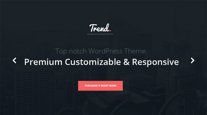 Trend - Flat & Clean WP Theme + PageBuilder
